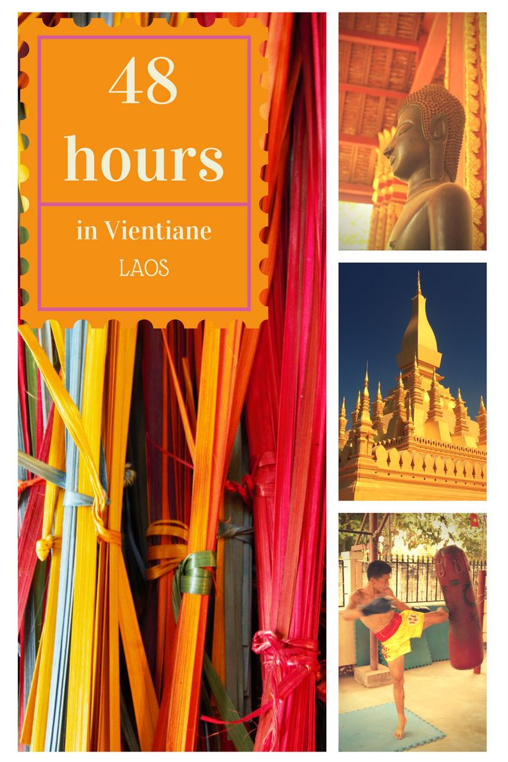 The capital of Laos, Vientiane, is still skept by many travelers. Make sure to not miss out on this vibrant city and explore the most interesting 10 things to do in 48 hours. From Thai boxing classes from champions to buddha parks, from traditional weaving workshops to street food markets. Save this pin to get inspired for your future trip!