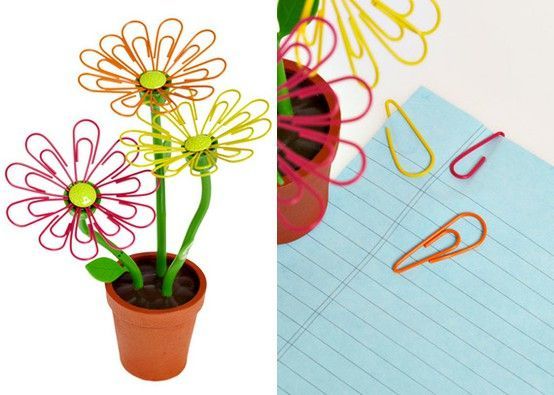 daisy paperclip holder for teen girl desk accessory