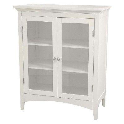Elegant Home Fashions Madison Avenue 2-Door Floor Cabinet - White