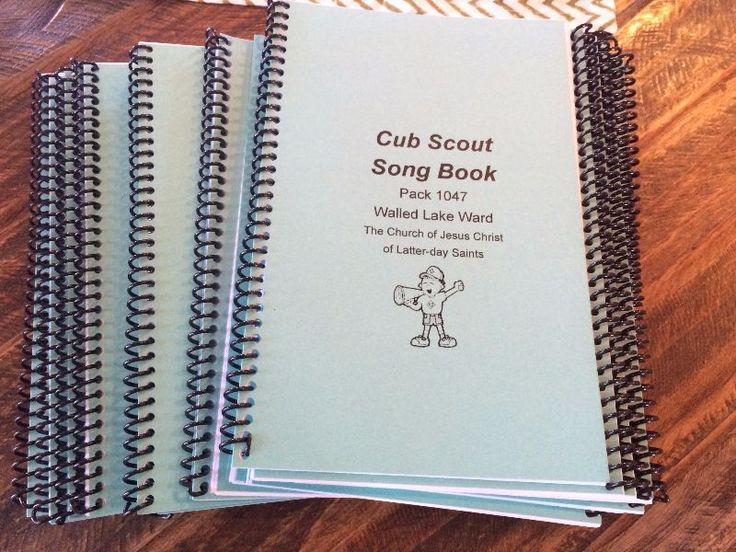 Amy wrote me and asked me if I would post a Cub Scout song book she made to fill a ticket for her Woodbadge course. My answer was yes!