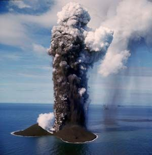 Underwater volcanoes are located all around the world, usually at tectonic plate boundaries. They can be deep down in the depths of the ocean, or very shallow. This erupting underwater volcano, for instance, is very shallow, and even the vent is visible from the surface of the ocean. -- Vetta A.