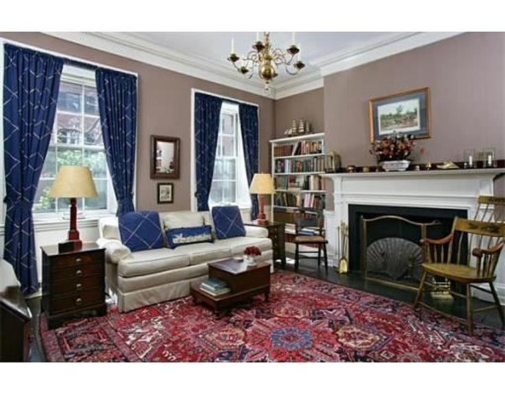 Living room of Beacon Hill townhouse