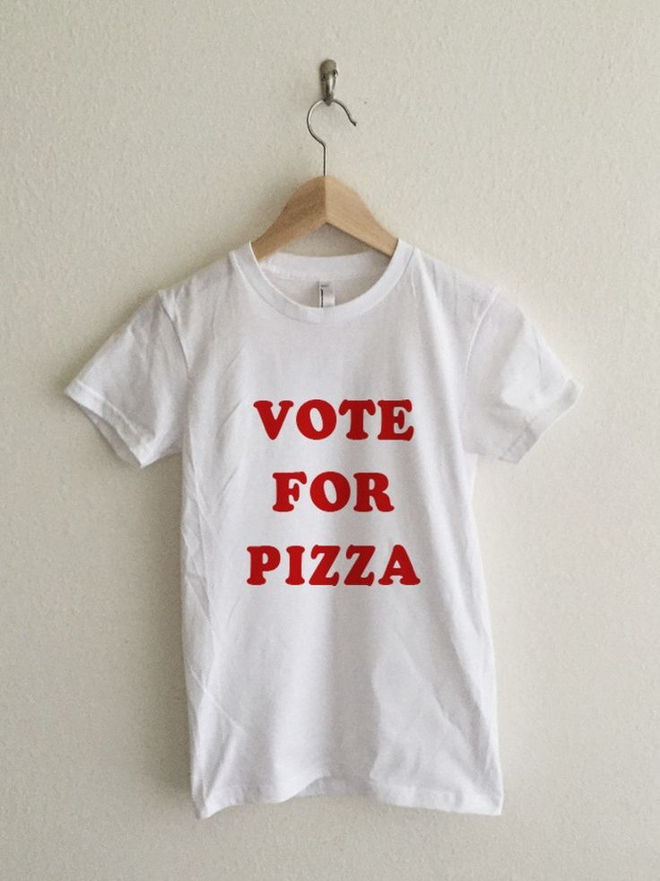 Vote For Pizza Pedro Typography Women's T-Shirt