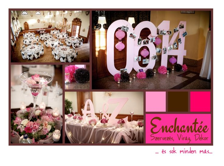 Hot pink and chocolate for a wedding - made by Enchantée