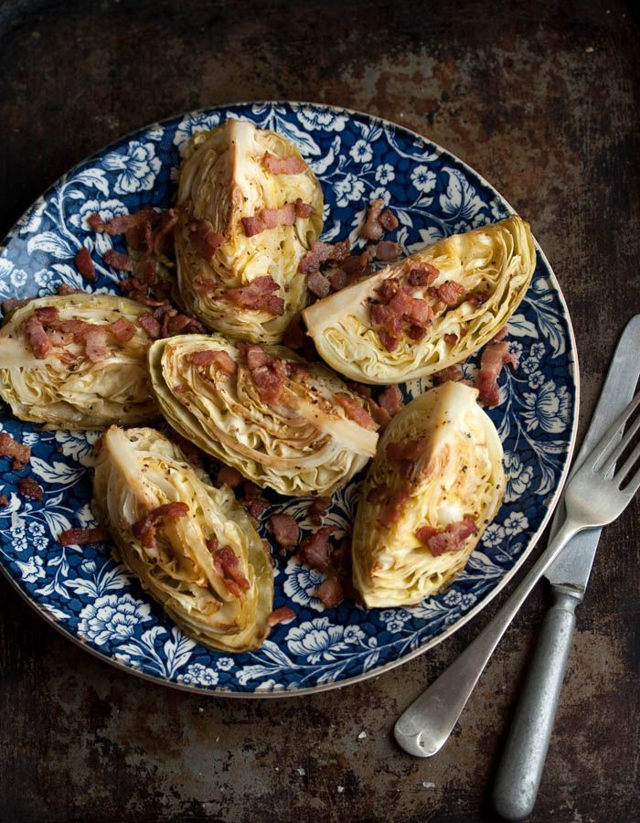 roasted cabbage wedges with crispy bacon: Cut Cabbage, Cabbage Wedges ...