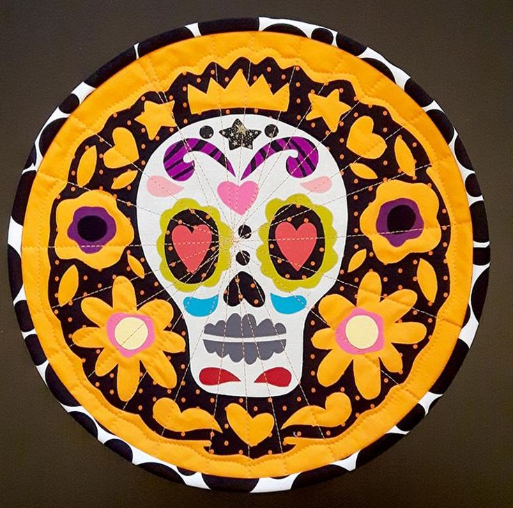 1074 best HALLOWEEN QUILTS images on Pinterest | Autumn quilts ... : sugar skull quilt pattern - Adamdwight.com