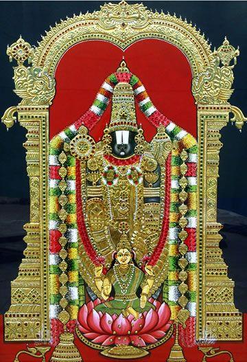 Balaji with Lakshmi.