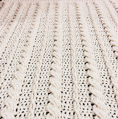 [Free Pattern] Fabulous Crochet Cabled Wedding Blanket - http://www.dailycrochet.com/free-pattern-fabulous-crochet-cabled-wedding-blanket/