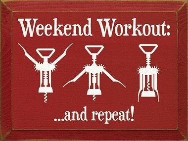 Listos para el fin de semana? Nosotros ya comenzamos con los ejercicios