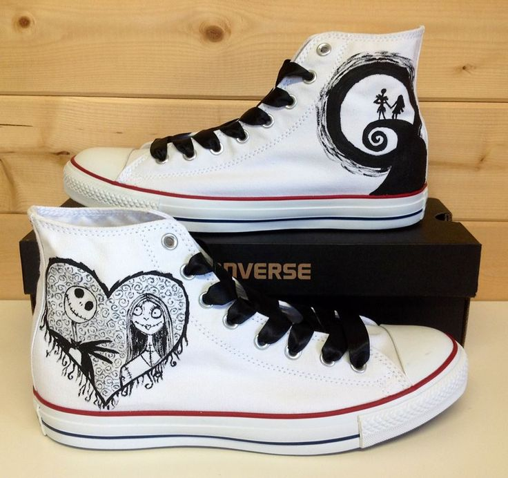 Jack and Sally Nightmare Before Christmas Converse