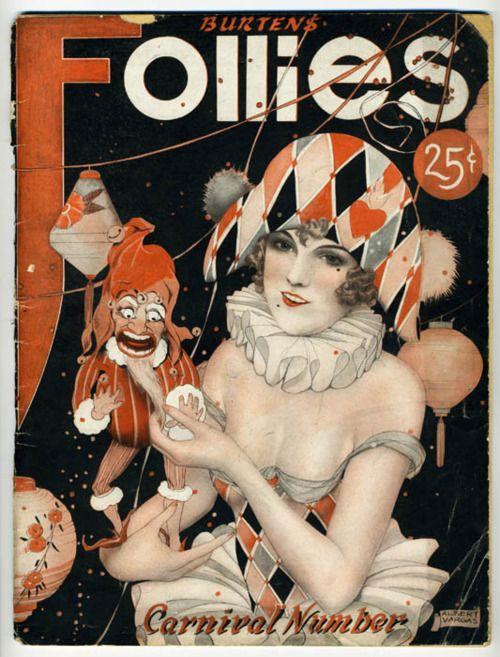 Follies Carnival Number (SheetMusic) Illustration by Alberto Vargas 1920's. ~Repinned Via Gaby D