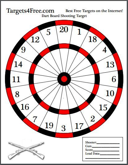 Dart Board Shooting Target - Red and Black, custom by Targets 4 Free. Enjoy them!  #shooting #targets #guns #darts #dartboard #recreation #sports #firearms #targets4free #fun