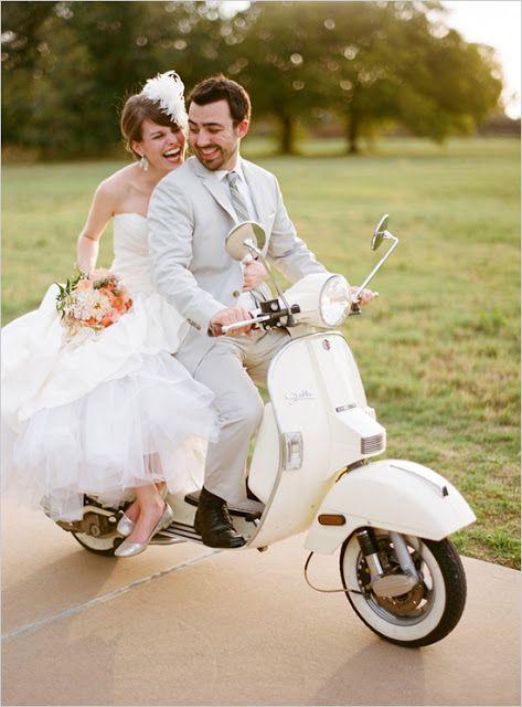 Love the Vespa getaway (Cassandra Dyane Weddings & Events)