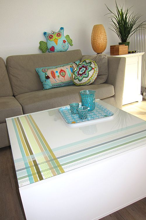 table with washi tape