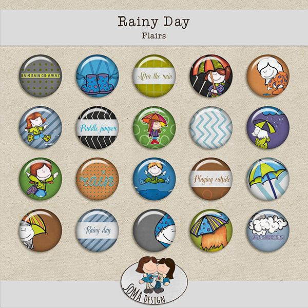 SoMa Design: Rainy Day - Flairs