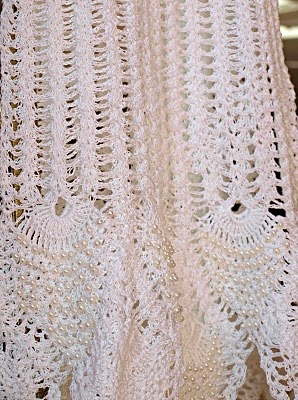 Hand crocheted Christening gown