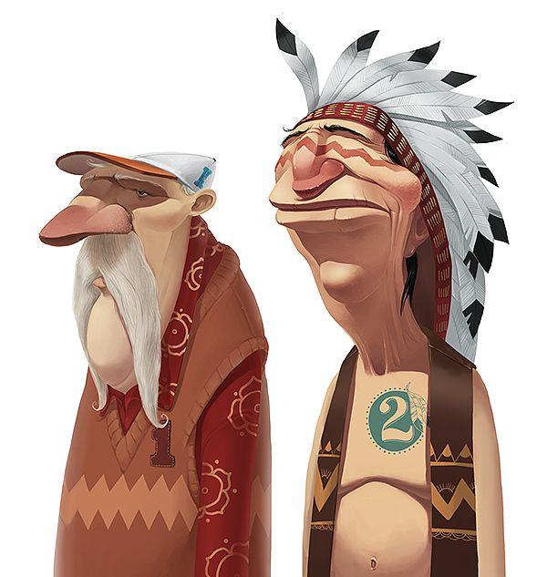 old bones characters by TOONDRA animation studio, via Behance