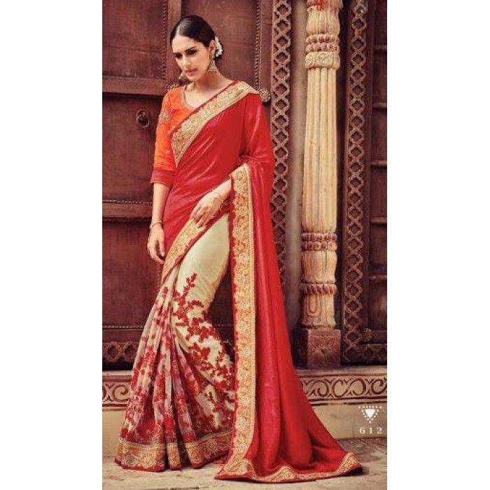 Lustrous Trendy Designer Saree ( D.No.612 )