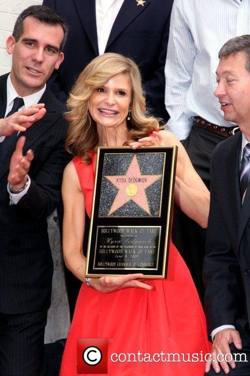 Eric Garcetti, Kyra Sedgwick, Star On The Hollywood Walk Of Fame, Walk Of Fame