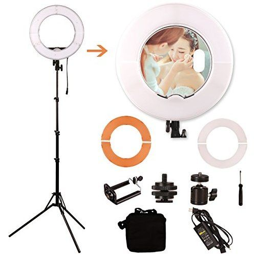 Ginson 12 Inch 180led Mirror Ring Light With Stand Makeup Artist Light Photography Lights Ring Light With Stand Ring Light Mirror Mirror With Lights