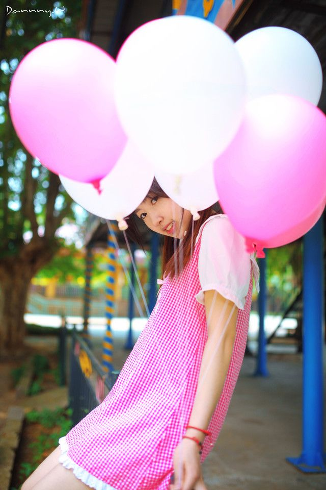 Portrait  Teen Balloon Girls - Asian Please Visit New -8885