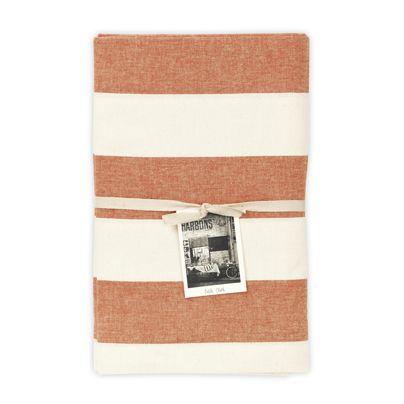 135x180cm Wide Stripe Table Cloth Mango