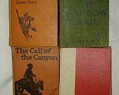 Zane Grey Hardbacks, 4 Books, Group #1