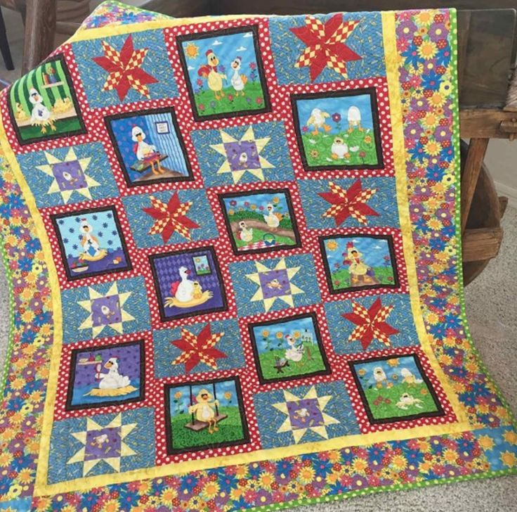 Go Stars In The Coop Quilt Pattern Quilt Patterns