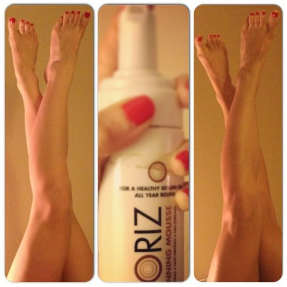 St. Moriz Self-Tanner Before and After. The Million dollar tan for under $5 ??? I'll have to try it.
