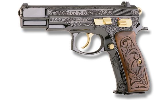 Firearms as Art: A Small Gallery of CZ's Engraved Pistol Series - Guns.com. An engraved CZ 85 B.