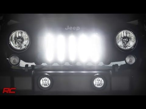 8-inch Cree Black Series Vertical LED Light Kit for 07-16 Jeep JK Wrangler | Rough Country Suspension Systems®