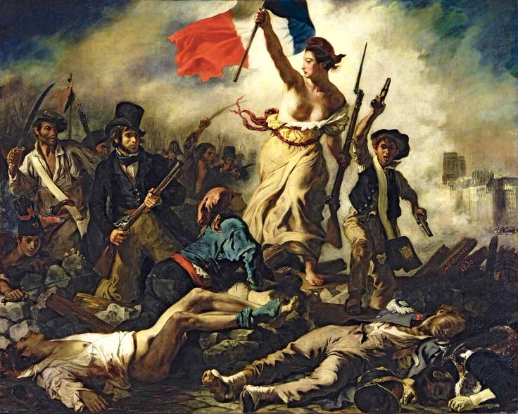 """I knew nothing about this painting when I first stood before it in the Louvre, and still, it was breath  taking! Eugene Delacroix's """"Liberty Leading the People"""" is an iconic example of French Romanticism. Immortalizing the glories of the July Revolution, it has been called the """"first political composition in modern painting"""". Considered politically incendiary, it was exhibited to mixed reviews at the Salon, then locked away from public view for almost 20 years."""