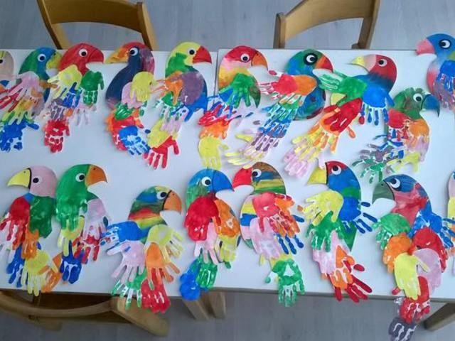 Kéznyomatokból készült kreatív alkotások