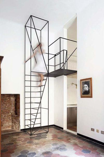 escalier droit en colima on pas japonais gain de place c u thang escaleras dise o. Black Bedroom Furniture Sets. Home Design Ideas