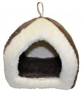 Culcus tip iglu - confectionat din plus gros, moale, pufos - pentru catelusul tau, sau, de ce nu, pentru pisica
