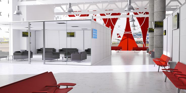 The purity of the double glazed seamless glass, offering the needed acoustic insulation that an Airport lounge needs