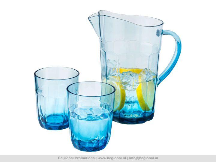 Waterkan met 2 glazen van Jamie Oliver #productvandedag #relatiegeschenken