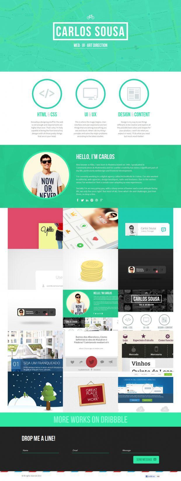 Carlos Sousa Portfolio - Web design UI Design and Art Direction - Webdesign inspiration www.niceoneilike.com