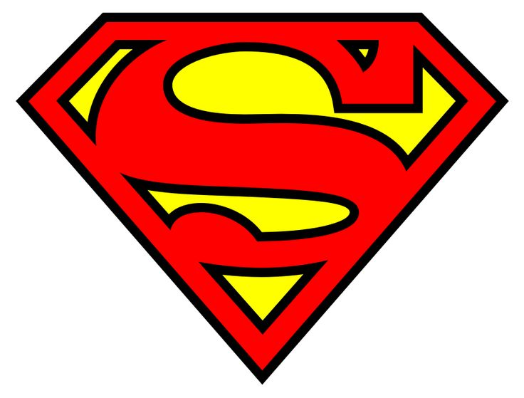 Superman Logos - flip, print on iron-on-transfer paper, and put on a blue shirt or cape for a quick costume!