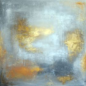 """RICHNESS AND FAME - LARGE SQUARED 42"""" X 42"""" ABSTRACT LANDSCAPE by VANADA"""