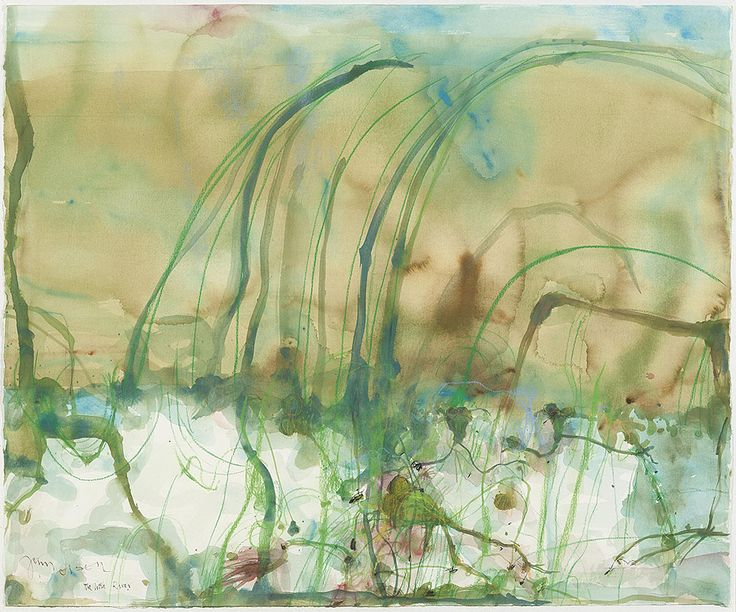 John Olsen - The Little River. Watercolour and crayon on paper.