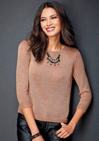 Třpytivý pulovr se 3/4 rukávy #ModinoCZ