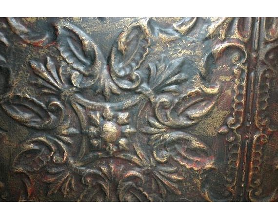 How to Paint and Distress Tin Ceiling Tiles - Ceiling Tiles as wall art.