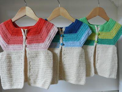 mis chalecos. Crochet colorful kid's cardigans