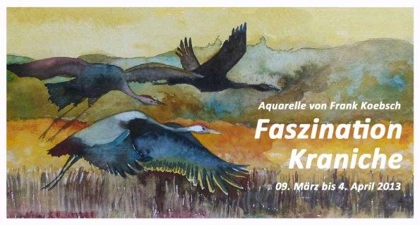 """Ausstellung """"Faszination Kraniche"""" in Hamburg."""