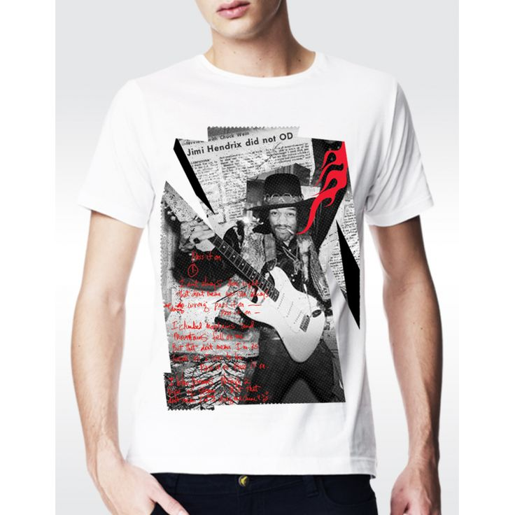 M24 JIMI HENDRIX T-shirt Men's Fine Jersey T-shirt Available in 3 colours