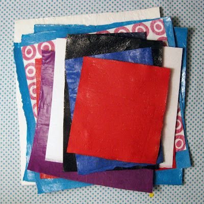 Plastic Bag - Step by Step-Freckled Nest: How to Fuse Plastic Bags
