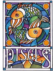 Pisces stained glass