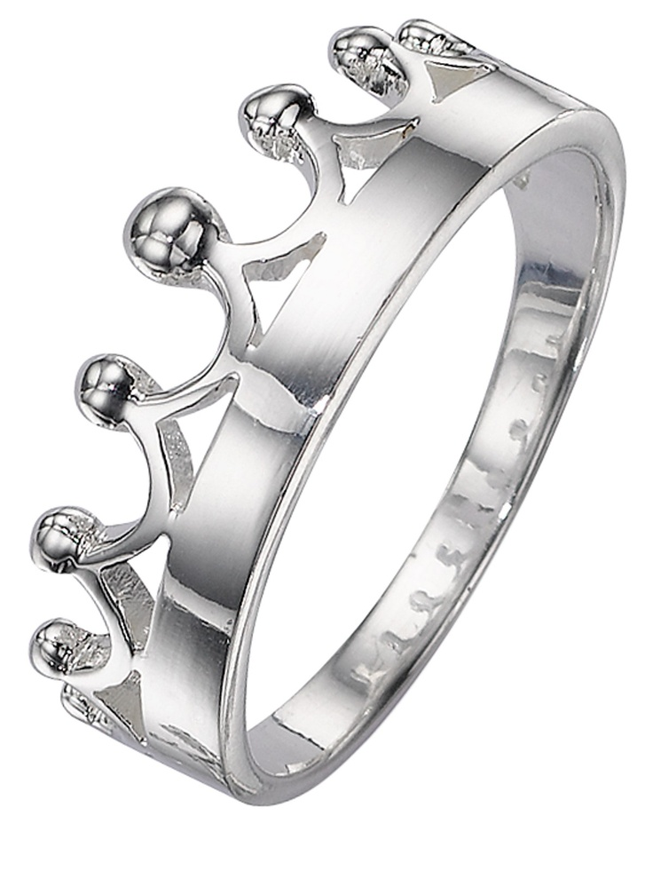 elements Silver Crown Ring | Very.co.uk