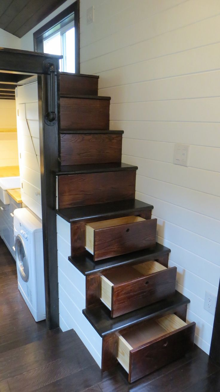 comely tiny home stairs. 439 best Tiny House  Mobil Home Camping Car images on Pinterest Mobile home Vans and Container houses